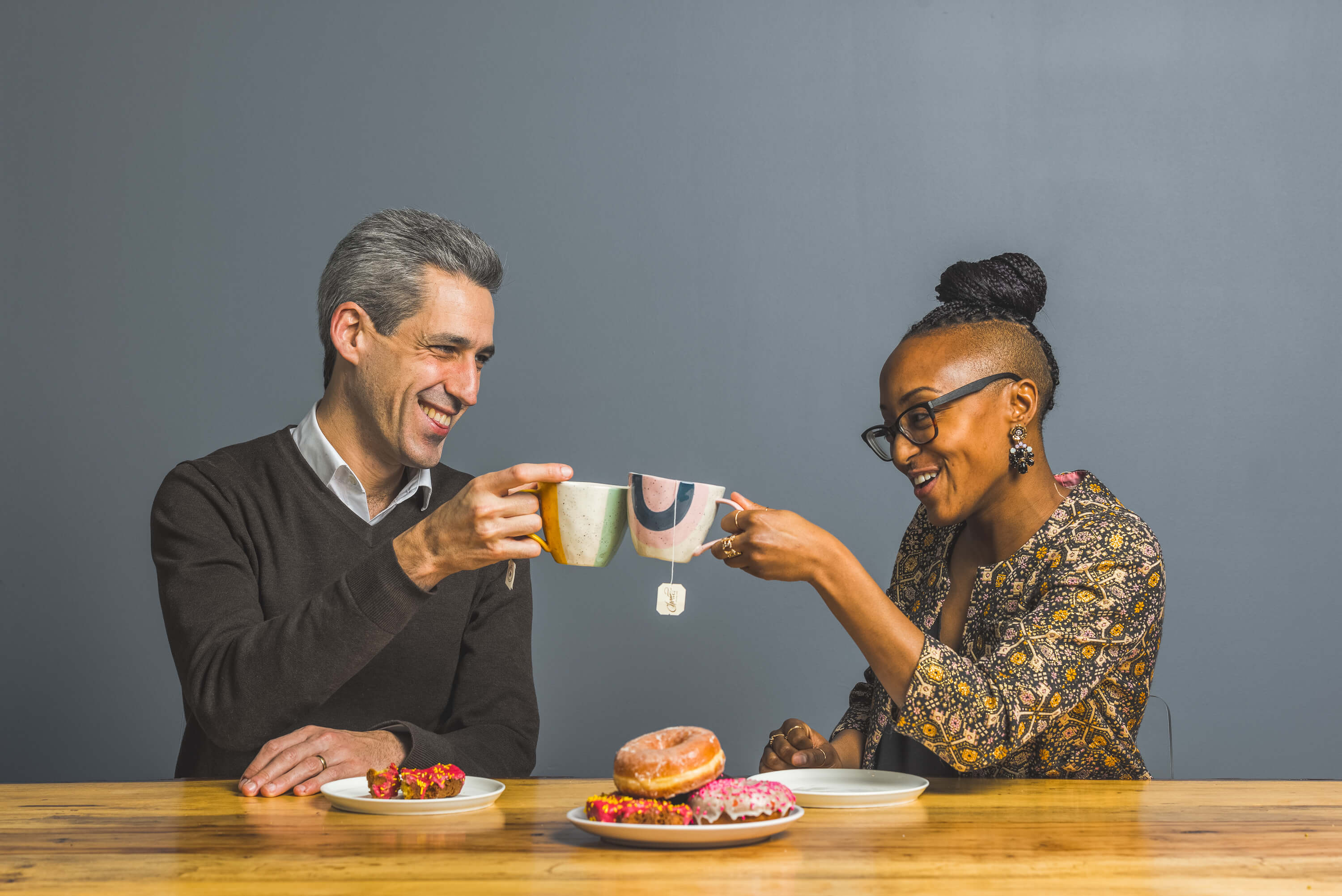 Glenance Green and Daniel Biss sit down and share their opinions over coffee.